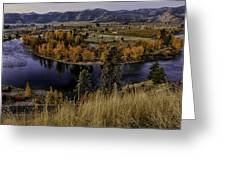 Oxbow Bend In The Wenatchee River Greeting Card