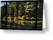 Oxbow Triptych Greeting Card by Peter Piatt