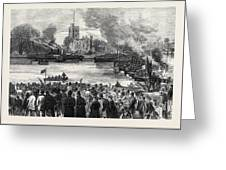 Oxford And Cambridge Universities Boat Race The Start Greeting Card