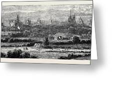 Oxford, From Headington Hill Greeting Card