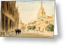 Oxford High Street Greeting Card