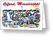 Oxford Mississippi 38655 Greeting Card