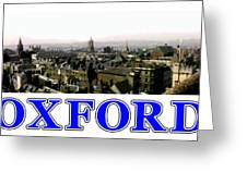 Oxford Snapshot Panorama Rooftops 2 Jgibney The Museum Zazzle Gifts Greeting Card