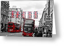 Oxford Street Flags Greeting Card