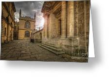 Oxford University - History-sheldonian-divinity Greeting Card