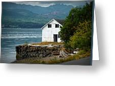 Old Oyster Shack Greeting Card