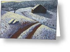 Ozark Winter Barn Greeting Card