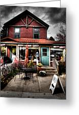 Ozzie's Coffee Bar - Old Forge Ny Greeting Card