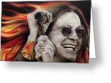 Ozzy's Fire Greeting Card