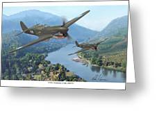 P-40 Warhawks Of The 23rd Fg Greeting Card