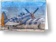P-47 Thunderbolt Airplane Wwii Airfield Greeting Card