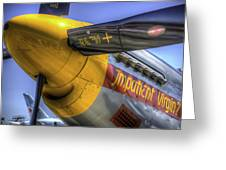 P-51 Impatient Virgin Greeting Card