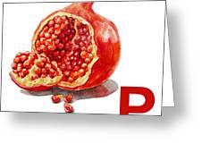 P Art Alphabet For Kids Room Greeting Card
