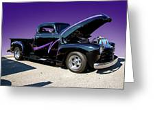 P P - Purple Pickup Greeting Card