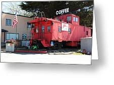 P Town Cafe Caboose Pacifica California 5d22659 Greeting Card by Wingsdomain Art and Photography