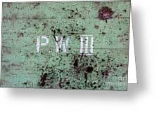 P W Greeting Card