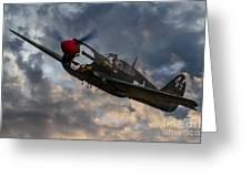 P40 Warhawk Tribute Greeting Card