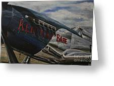 P51 Mustang Kentucky Babe Warbird Greeting Card
