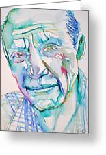 Pablo Picasso- Portrait Greeting Card