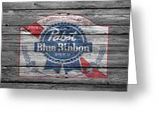 Pabst Blue Ribbon Beer Greeting Card