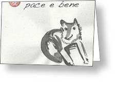 Pace E Bene Greeting Card