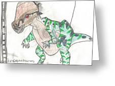 Pachycephalosaurus Greeting Card