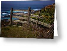 Pacific Coast Fence Greeting Card