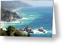 Pacific Coast Highway Mini Arch Rock Greeting Card