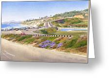 Pacific Coast Hwy Del Mar Greeting Card by Mary Helmreich