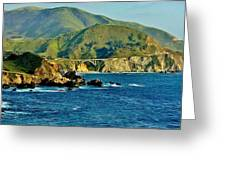 Pacific Coast Panorama Greeting Card by Benjamin Yeager