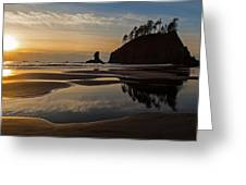 Pacific Coast Sunset Greeting Card