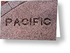 Pacific Concrete Street Sign Greeting Card