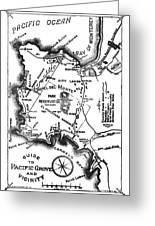 Pacific Grove And Vicinity  Monterey Peninsula California  Circa 1880 Greeting Card