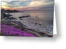 Sunset In Pacific Grove Greeting Card