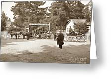 Pacific Grove Retreat Gate On Lighthouse At Grand Aves  With  O. J. Johnson Circa 1880 Greeting Card