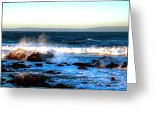 Pacific Grove Surf 19894 Greeting Card