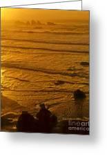 Pacific Ocean Sunset Bandon Beach Oregon Greeting Card