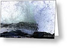 Pacific Ocean Wave Splash Greeting Card