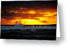 Pacific Sunset Drama Greeting Card