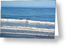 Pacific Surfer Greeting Card
