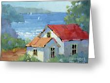 Pacific View Cottage Greeting Card