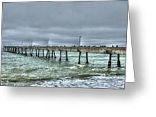Pacifica Fishing Pier 7 V2 Greeting Card