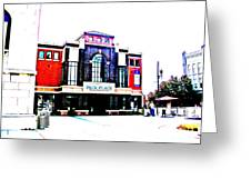 Pack Place Asheville In High Contrast Greeting Card