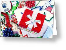 Packages Boxes And Bags Greeting Card