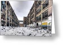 Packard Plant Detroit Michigan - 13 Greeting Card