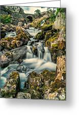 Packhorse Waterfall Greeting Card