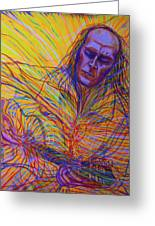 Paco De Lucia And Guardian Angel Greeting Card