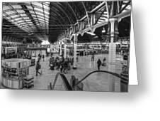 Paddington Station Bw Greeting Card