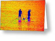 Paddle Board Paradise Greeting Card