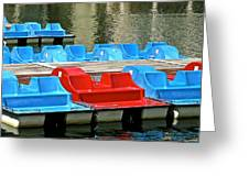 Paddle Boats Greeting Card
